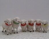 Vintage Stick Leg Wooly Sheep Made In Japan