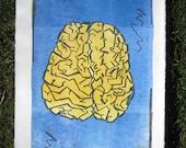 """Einstein, Lithograph Print Pop Art style 16""""x20"""""""