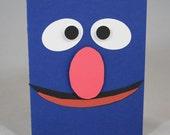 Grover Birthday Card or Invitation Sesame Street Handmade