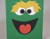 Oscar the Grouch Birthday Card or Invitation Sesame Street Handmade