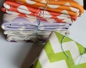 Chevron Baby Blankets, Set of 3, Custom Color Choice, Eco Friendly Organic Cotton