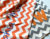 Swaddling Blanket, Chevron, Monogrammed or Personalized, You Choose Colors