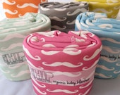 Mustache Baby Blanket, Choose Your Color, Organic Baby Bedding