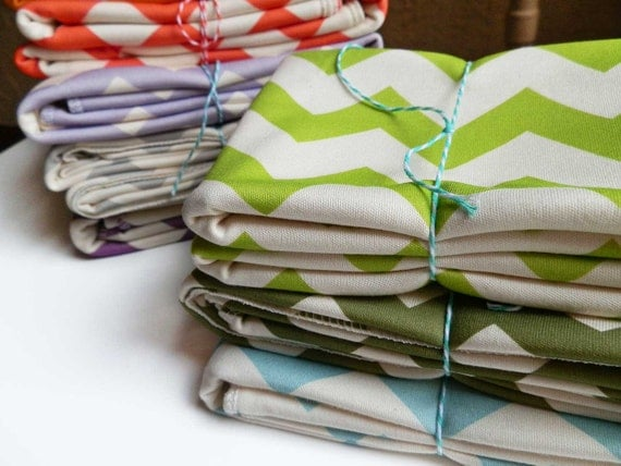 Chevron Baby Blanket, Choose Your Color, featured in Natural Child Magazine
