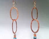 Gold & Turquoise 'Diaris' Earrings by Zanne