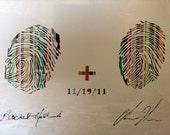 Original Customizable Thumbprint Art, Great Birthday, Wedding and Anniversary Gift