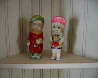 Bisque Dolls Frozen Charlotte Girls Set of Two