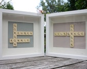 Personalised Children's Name - Original Scrabble Tile Art Work