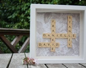 eREBEKAH personalised Housewarming Frame- Original Scrabble Tile Art Work