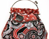 Red and Black Paisley Bag
