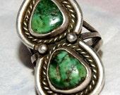 RARE CARICO LAKE Vintage Navajo Ring Size 6.5.. c1945