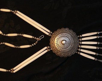HOPI MASUNGYAMA WADSWORTH Rare Ceremonial Necklace c1960