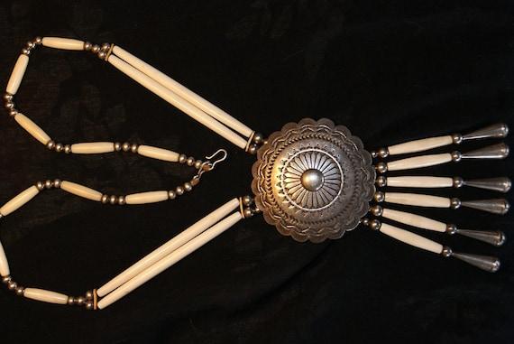 HOPI MASUNGYAMA WADSWORTH Rare Ceremonial Necklace c1960