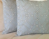 Gray, White and Black Throw Pillow Cover Set -- 16 x 16