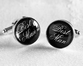 Best Man Silver Plated  Cufflinks - Great Gift for the Best Man