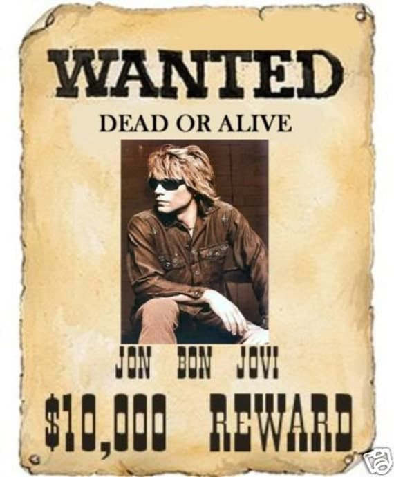 Jon Bon Jovi Mini Wanted Dead Or Alive by BBSLITTLETREASURES07