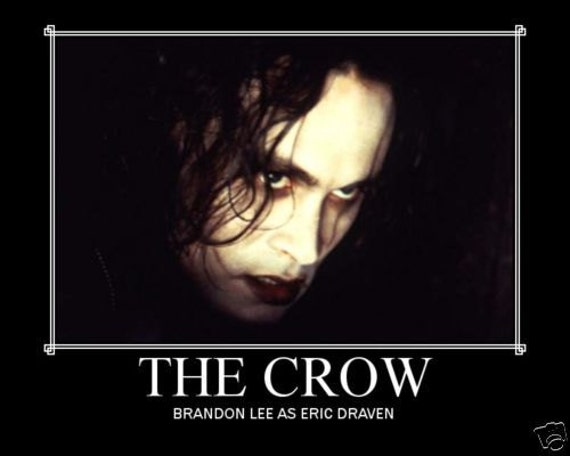 items similar to the crow brandon lee mini movie poster on