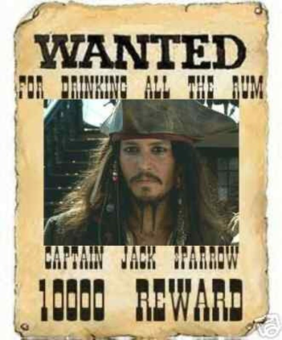 Items Similar To Pirates Of The Caribbean Captain Jack