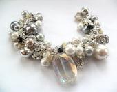 Snow queen - Beautiful and unique handmade charm bracelet