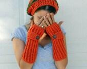 Pumpkin spice crochet slouchy cloche hat, tam, boho,beanie
