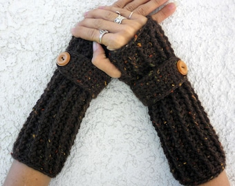 Autumn wool speckled arm warmers, fingerless gloves, texting gloves, crochet gloves, wrist warmers, hand warmers, mittens, winter gloves