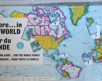 Where....in the world vintage board game