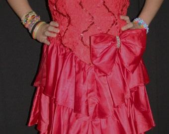 ON SALE -Vintage red dress by Algo-Ettes