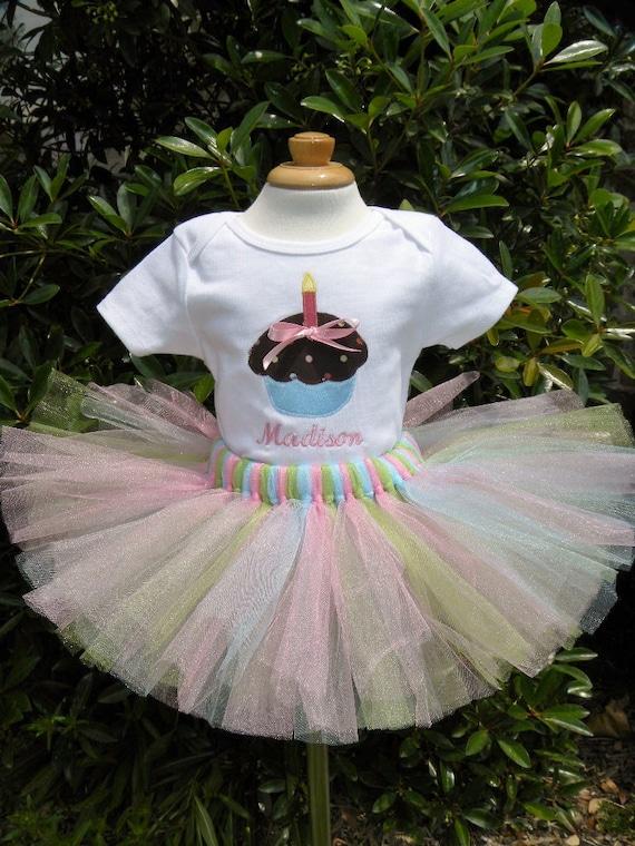 Cupcake 1st birthday shirt and tutu set