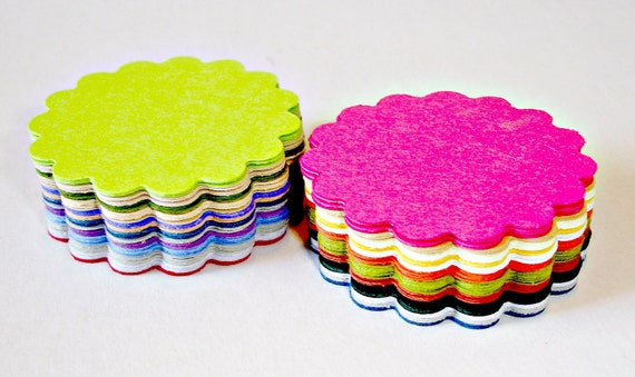 Scalloped circles assorted scallop circles embellishment scrapbooking any project top notes gift wrap