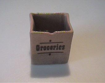 Vintage Hagen Renaker miniature groceries bag
