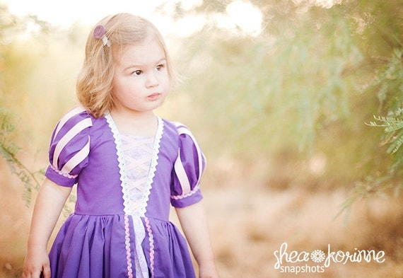 Tangled Rapunzel Dress - Size 2T-12