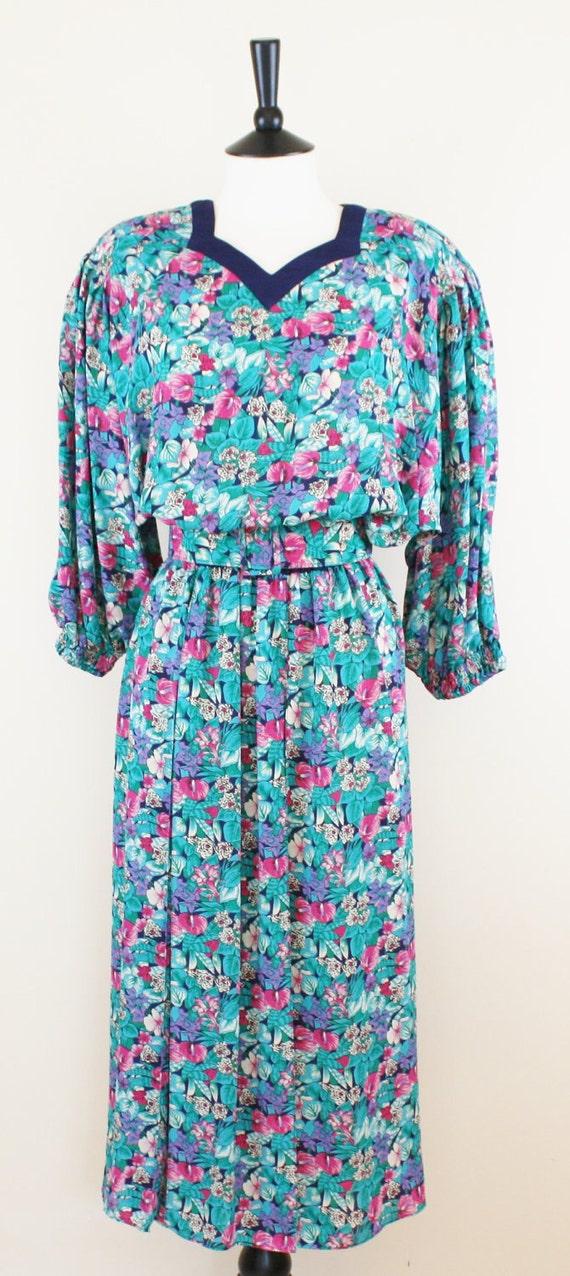 Diane Freis Vintage Floral Dress