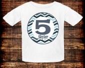 Chevron Birthday Shirt/Onesie
