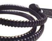 Zipper pull charm bracelet  - Handmade men's wrapped bracelet - simple & modern.