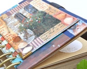 Garden Book, Rustic Scrapbooking, brown paper with decoration.