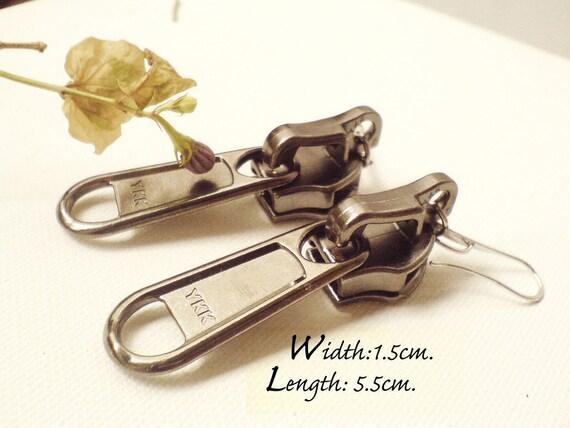 Metal zipper earrings, steampunk jewelry.