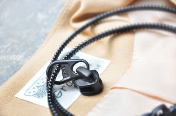 3 YKK zipper necklace, zipper accessories, fashion jewelry, bracelet.