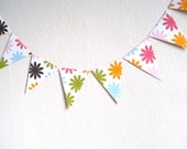 Birthday Bunting Paper Garland, Spring Party Decoration, Nursery Decor, Photo Prop, Handmade  (7 feet, 2.13 m)