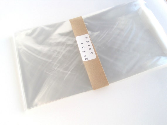 """50 Clear cello bags, favor covers, Large merchandise self sealing bags, Food safe, 6"""" x 8"""""""