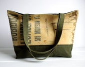 Recycled Lumber Apron Tote Bag