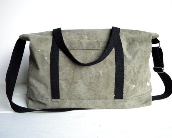 Recycled Canvas Weekender Tote Bag