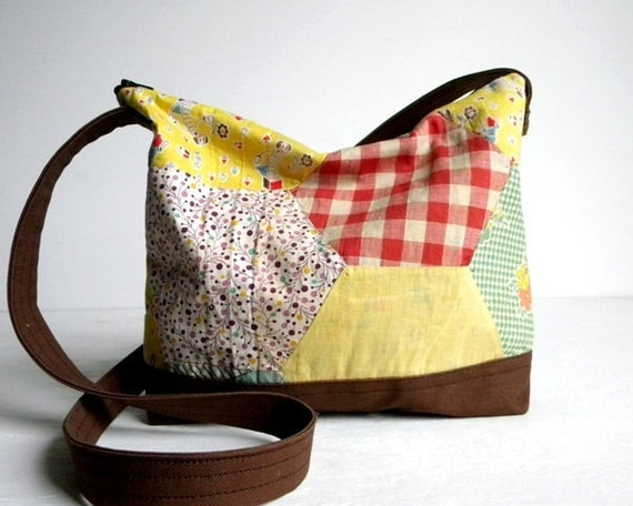 Recycled 1940s Quilt Purse
