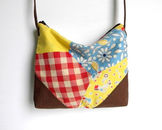 Recycled Quilt Small Cross Body Purse