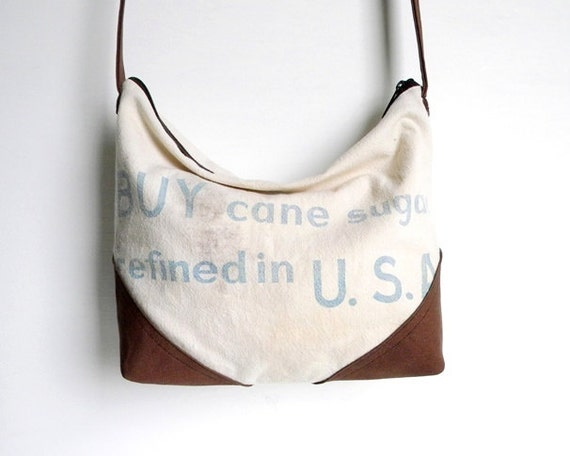 Recycled Sugar Sack Slouch Cross Body Bag