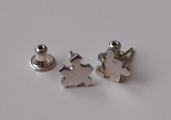 Mini Jigsaw Earrings