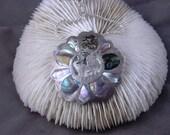 Vintage Leo Pendant Brooch Abalone Plata 925 Reserved