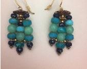 Ocean Dream Chandeliers, a blue green blend of Sapphire, Hemimorphite and Czech Glass