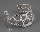 Curvy Sterling Silver Cuff Bracelet