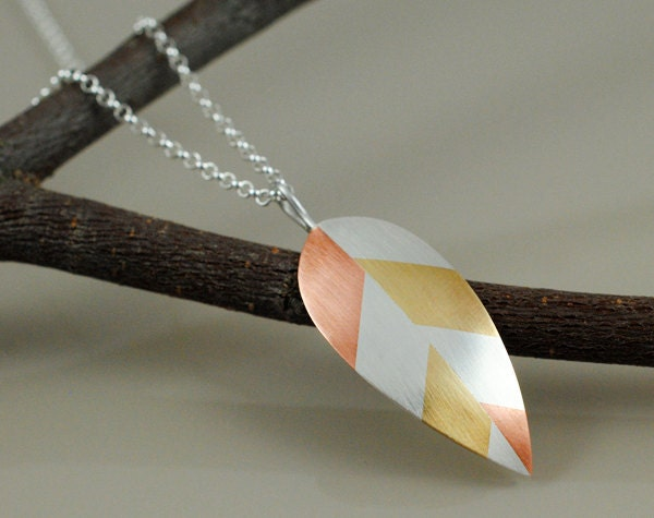 Leaf Pendant Necklace Married Metals Sterling Silver