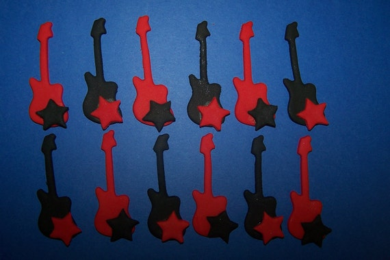Fondant Toppers - Guitars